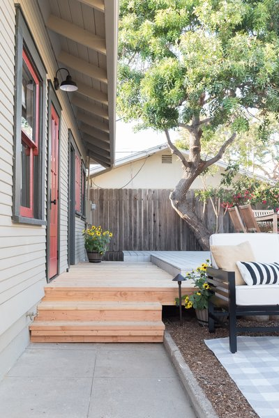 The existing deck was extended to allow access from the master bedroom to rear yard.