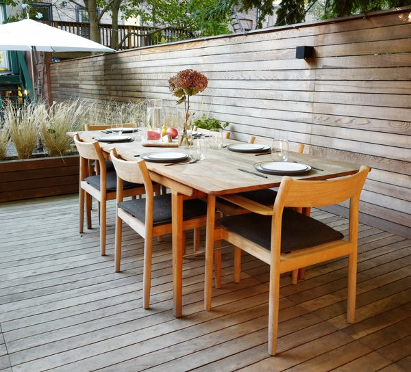 An outdoor dining space is the perfect place to entertain and socialize with friends and family.