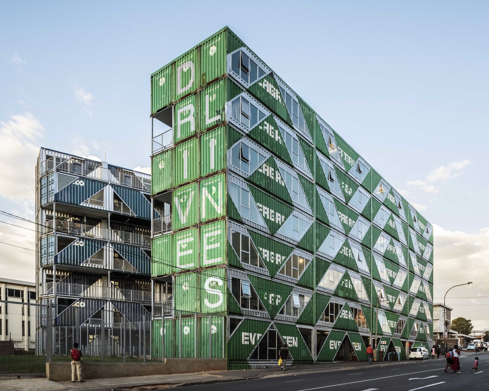 Stacked Shipping Containers Create a New Model For Urban Living in South Africa
