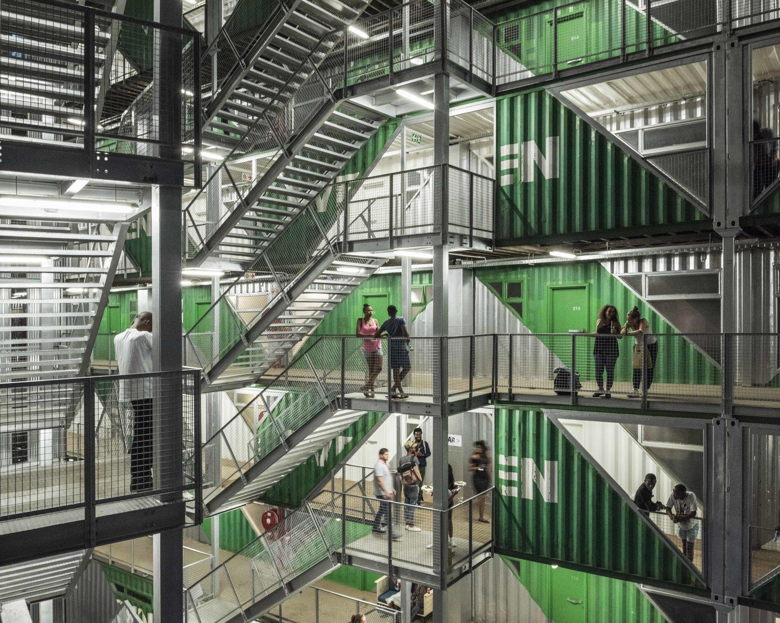 DRIVELINES Studios exterior stairways