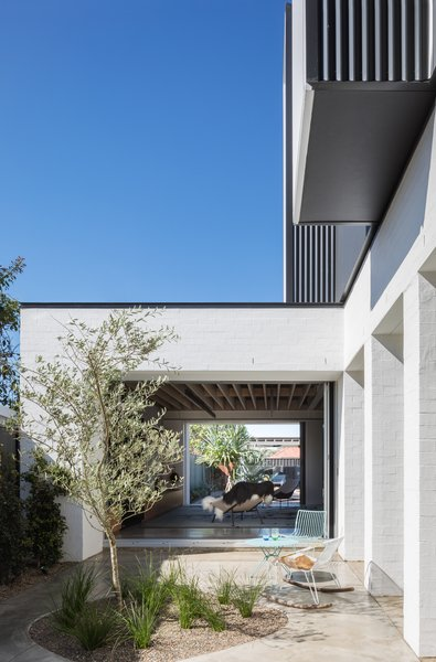 The new internal courtyard increases the livable outdoor space, while allowing for direct sunlight in the cooler months.