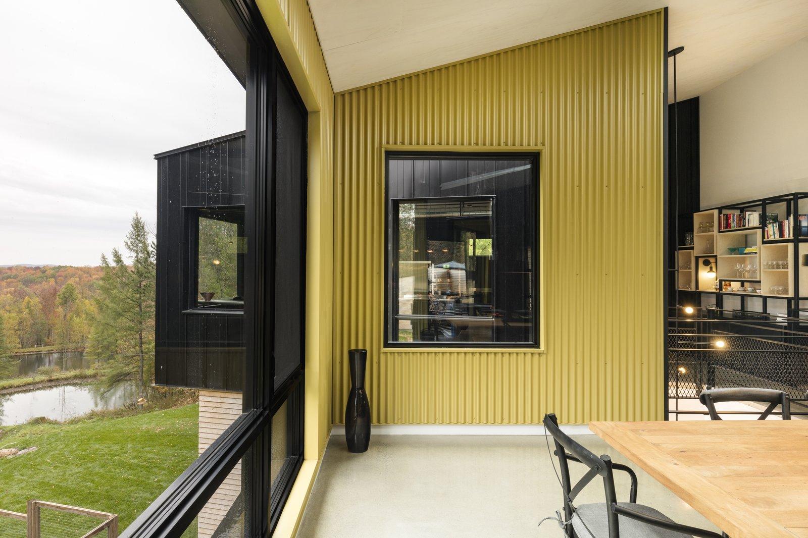 Abercorn Chalet interior with floor-to-ceiling windows