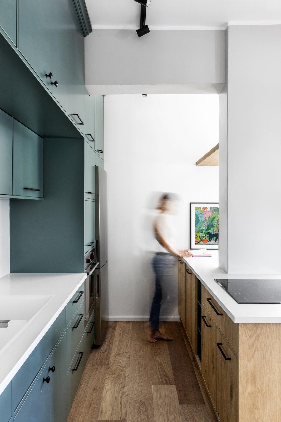 After: Urban Jungle apartment kitchen
