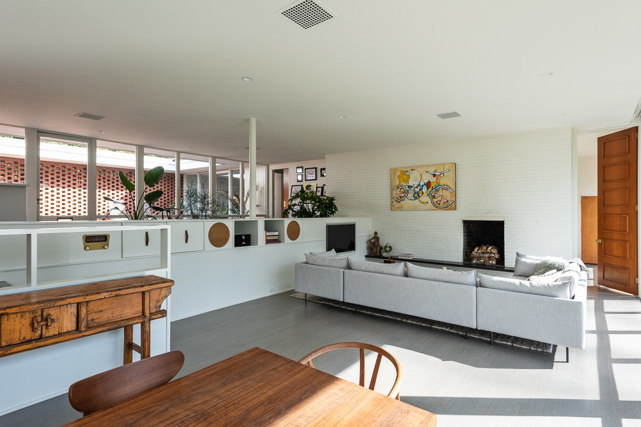 Stone Throw Edward Durell Stone Midcentury Home living room