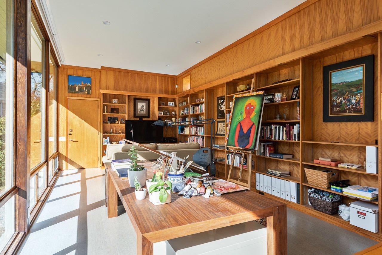 Stone Throw Edward Durell Stone Midcentury Home library
