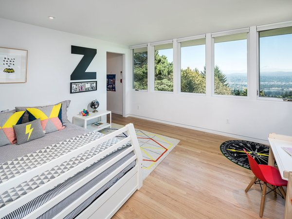 Each of the home's bedrooms is situated to enjoying the stunning mountain views.