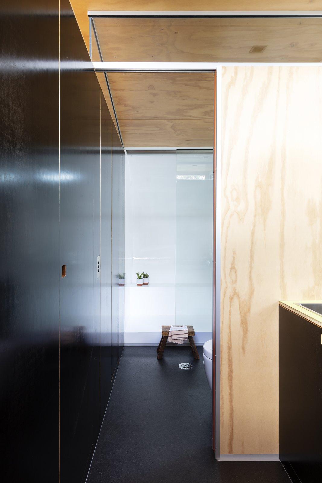 Fabshack prefab cabin shower