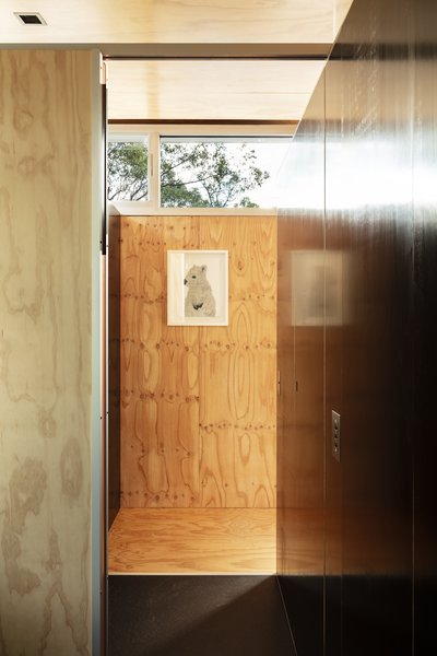 Clerestory windows draw in additional daylight while still providing privacy.