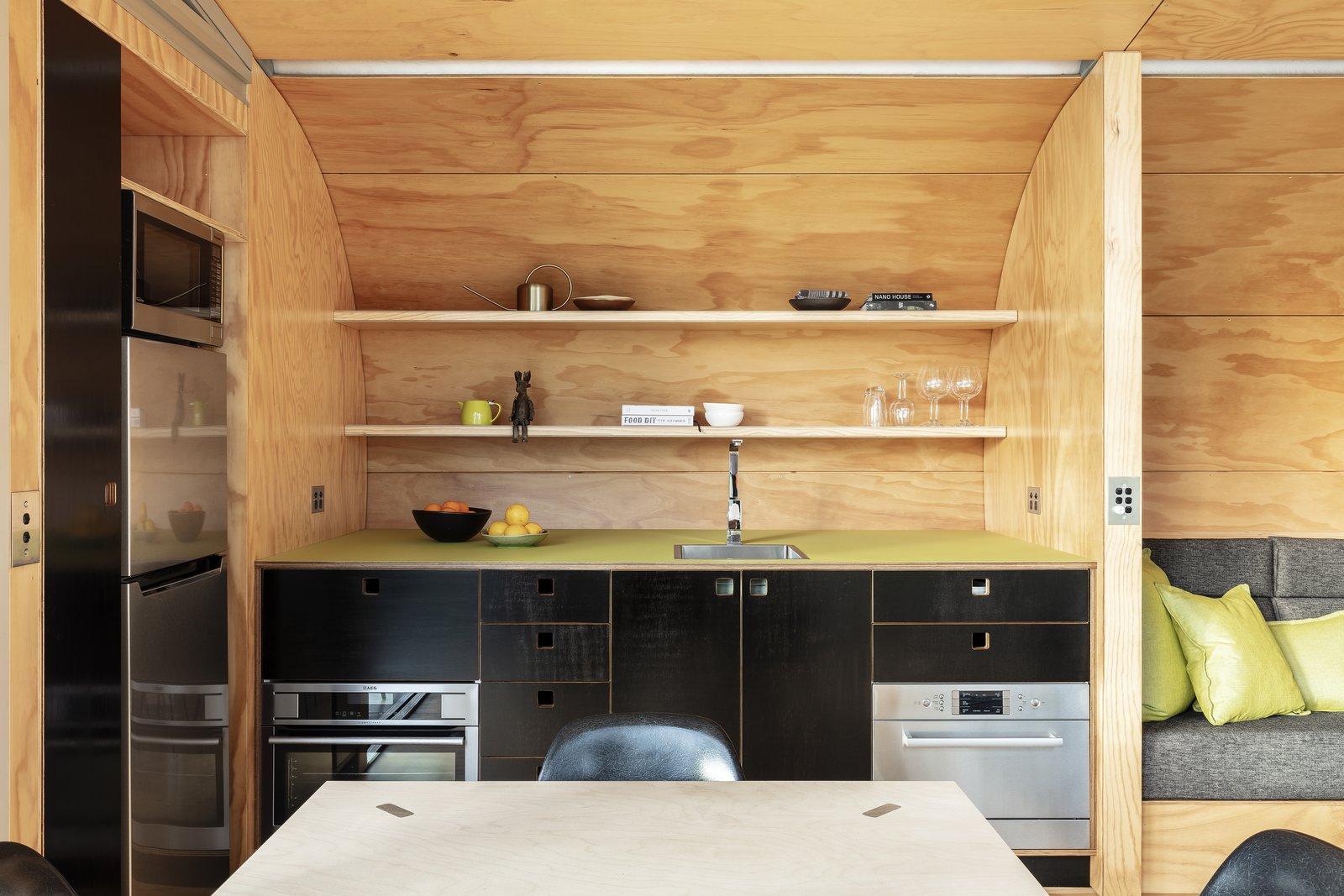 Fabshack prefab cabin kitchen