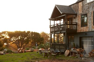 Camp Wilder, a Nordic-inspired retreat in the surf haven of Bolinas, California, is a maker's paradise on expansive grounds surrounded by greenery, expansive views, and natural elements.
