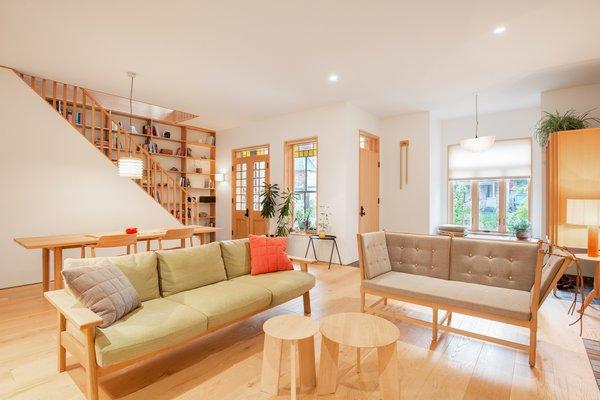 Minimal, Scandinavian-inspired furnishings fill the Dunn House in Toronto.