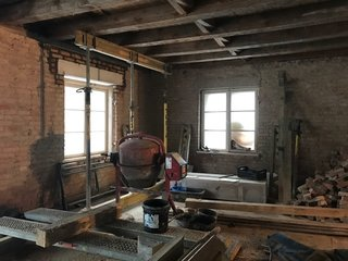 Before: Due to the age of the building, the structure had to be strengthened and checked for soundness as part of the renovation process.