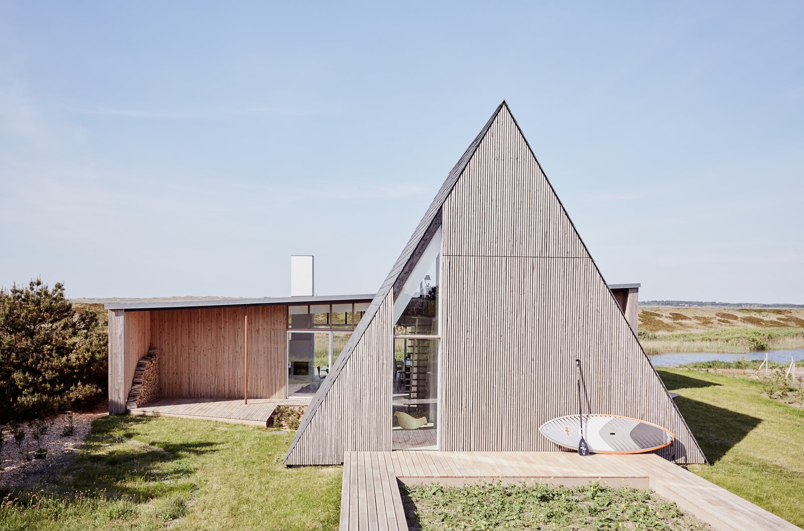 Light House by PURAS Architecture A-frame exterior