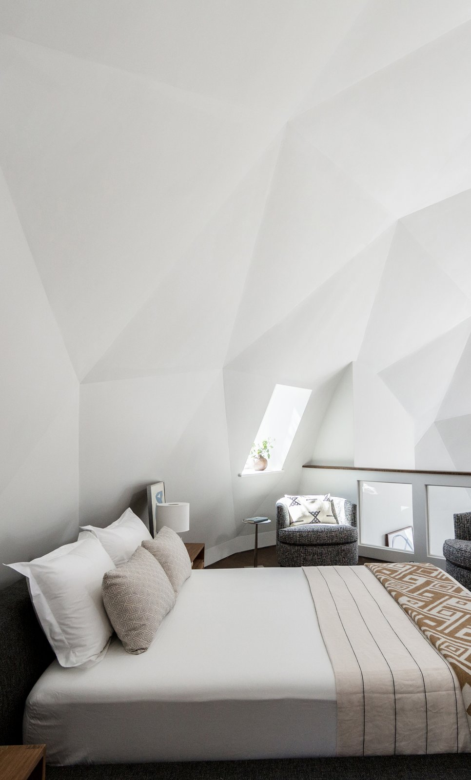 Geodesic dome cabin bedroom by Jess Cooney