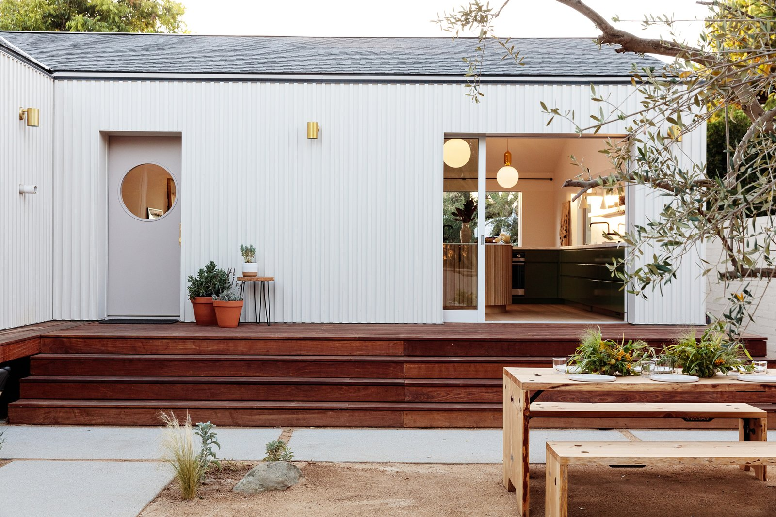 Courtyard House by And And And Studio outdoor dining area