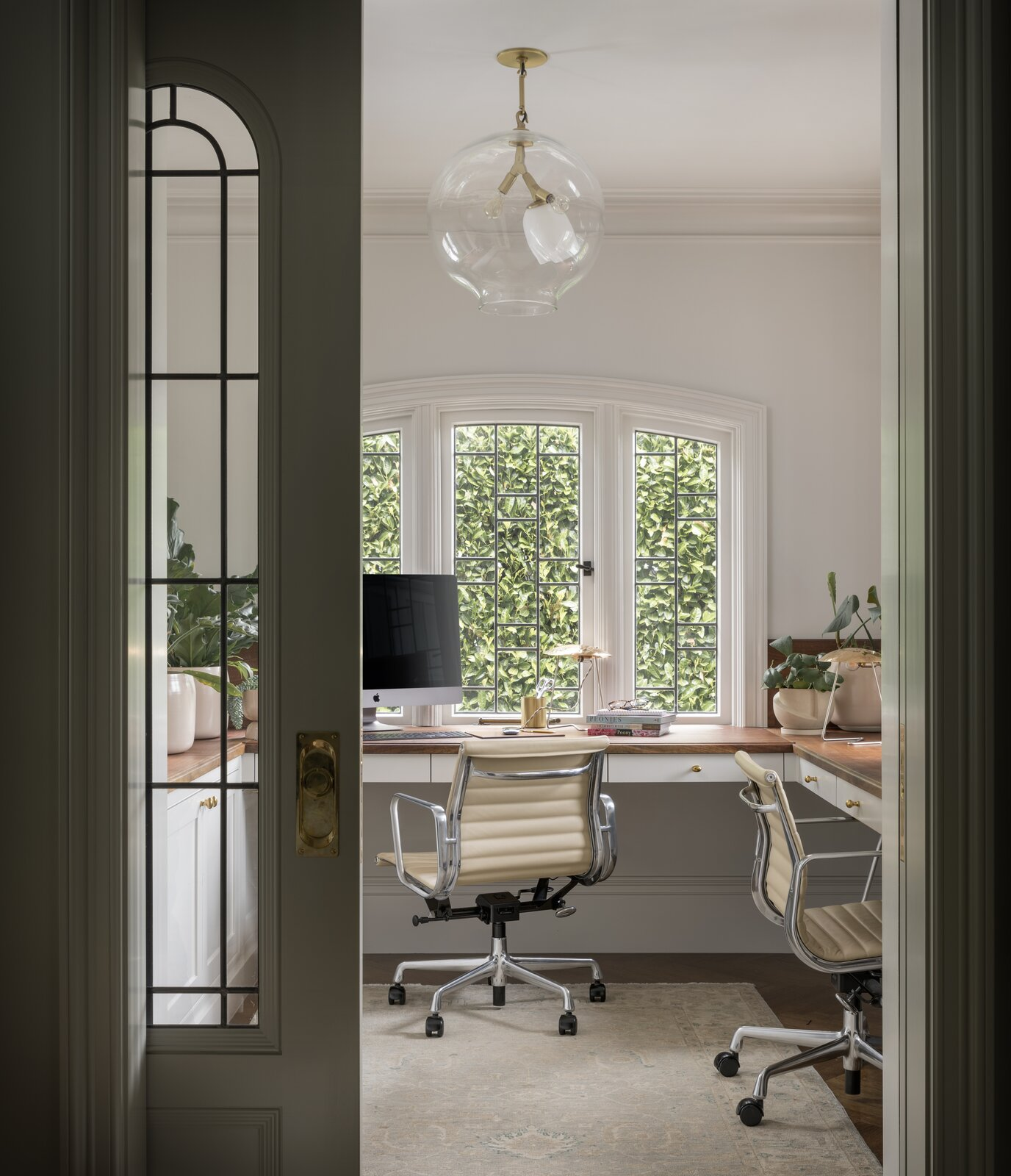 The Albemarle Terrace House by Jessica Helgerson Interior Design includes two workspaces: As remote work continues, designers suspect that clients will start to request multiple offices to help with homeowners juggling a challenging work/life balance.  Photo 3 of 30 in How the Pandemic Is Reshaping Interior Design So Far