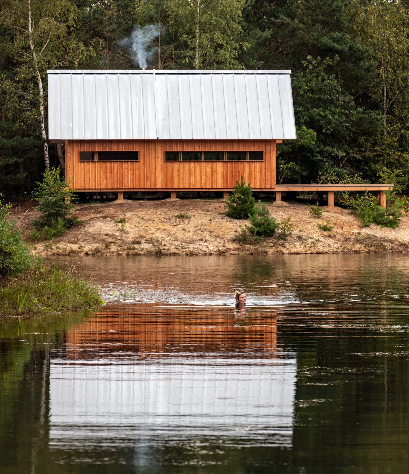 ANNA prefab cabin with metal gable roof