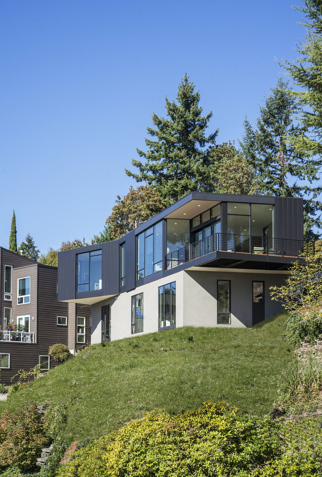 Outdoor, Grass, Trees, Shrubs, and Back Yard Exterior  Canterbury Residence by Scott | Edwards Architecture