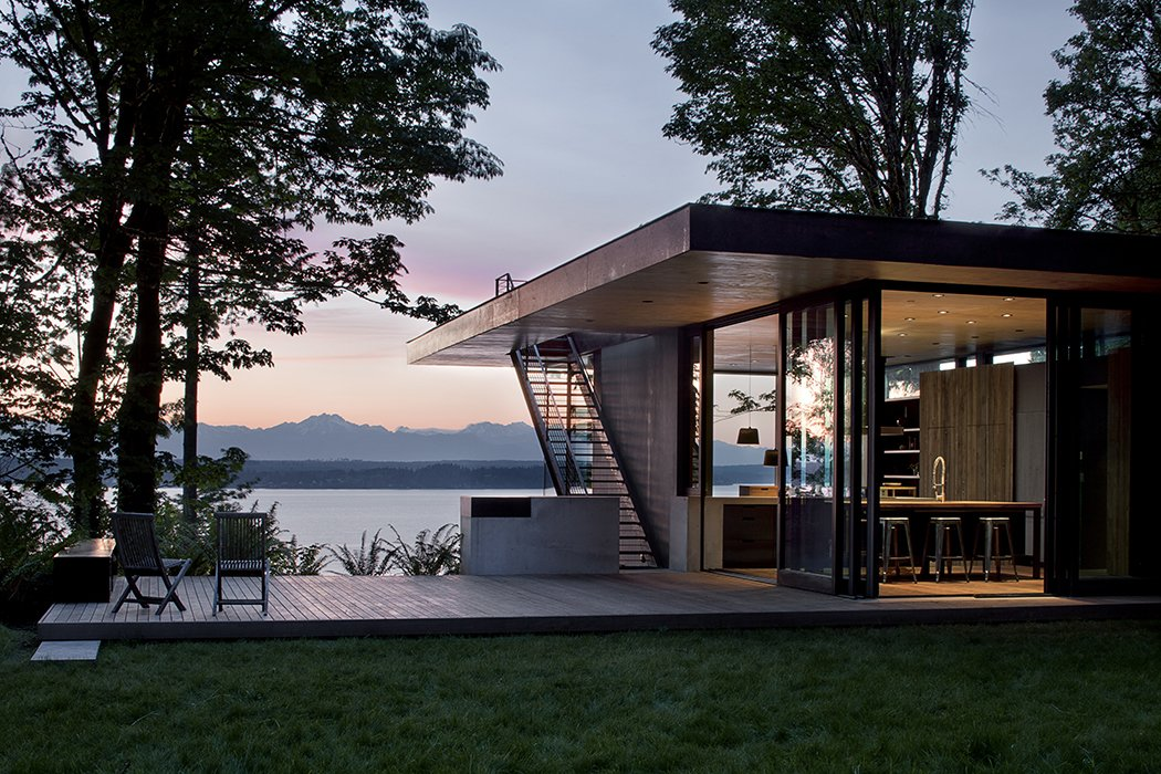 Outdoor, Grass, Back Yard, Small Patio, Porch, Deck, and Wood Patio, Porch, Deck Case Inlet Retreat  Best Photos from Case Inlet Retreat