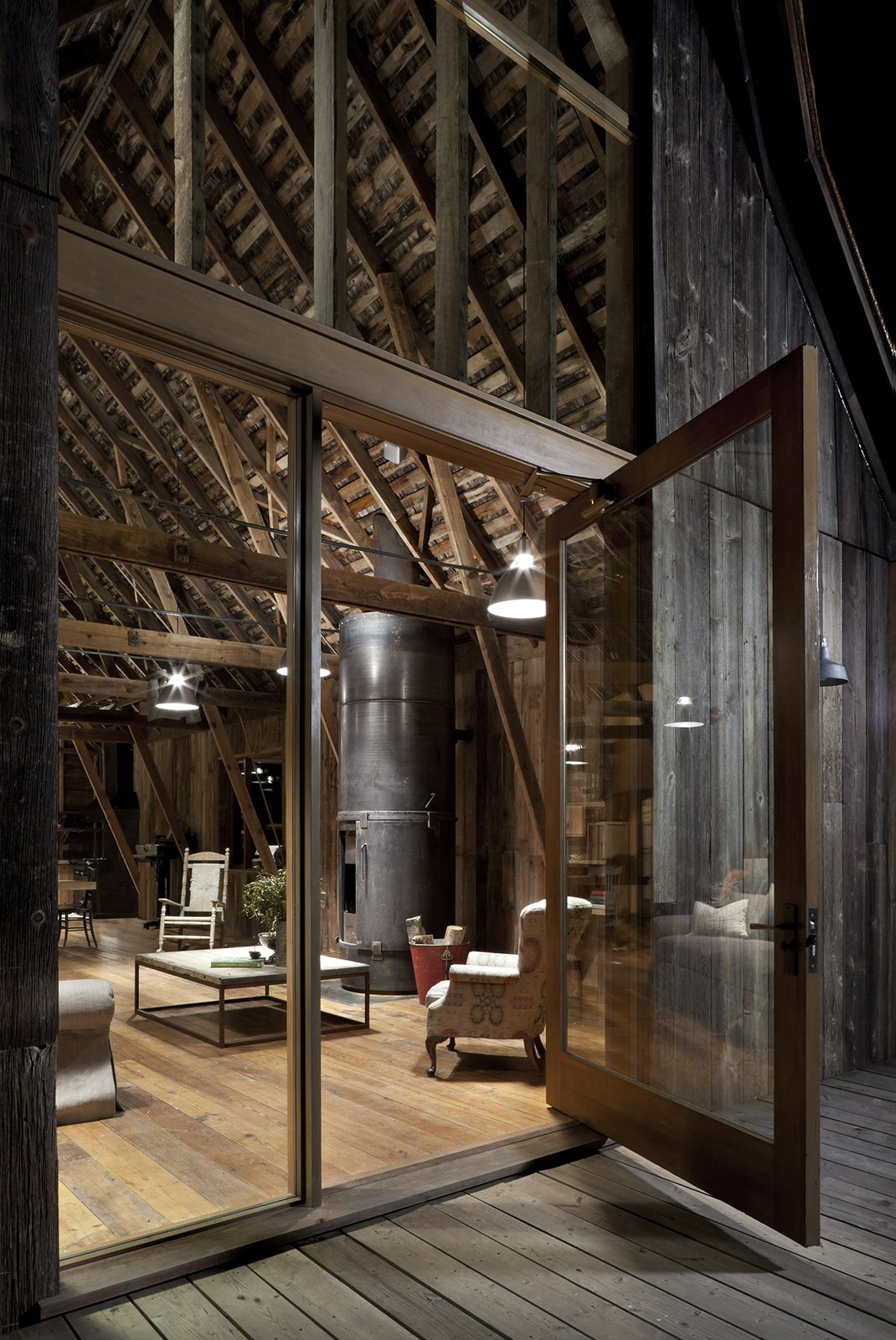 Doors, Exterior, Swing Door Type, and Wood Canyon Barn  Best Photos from L