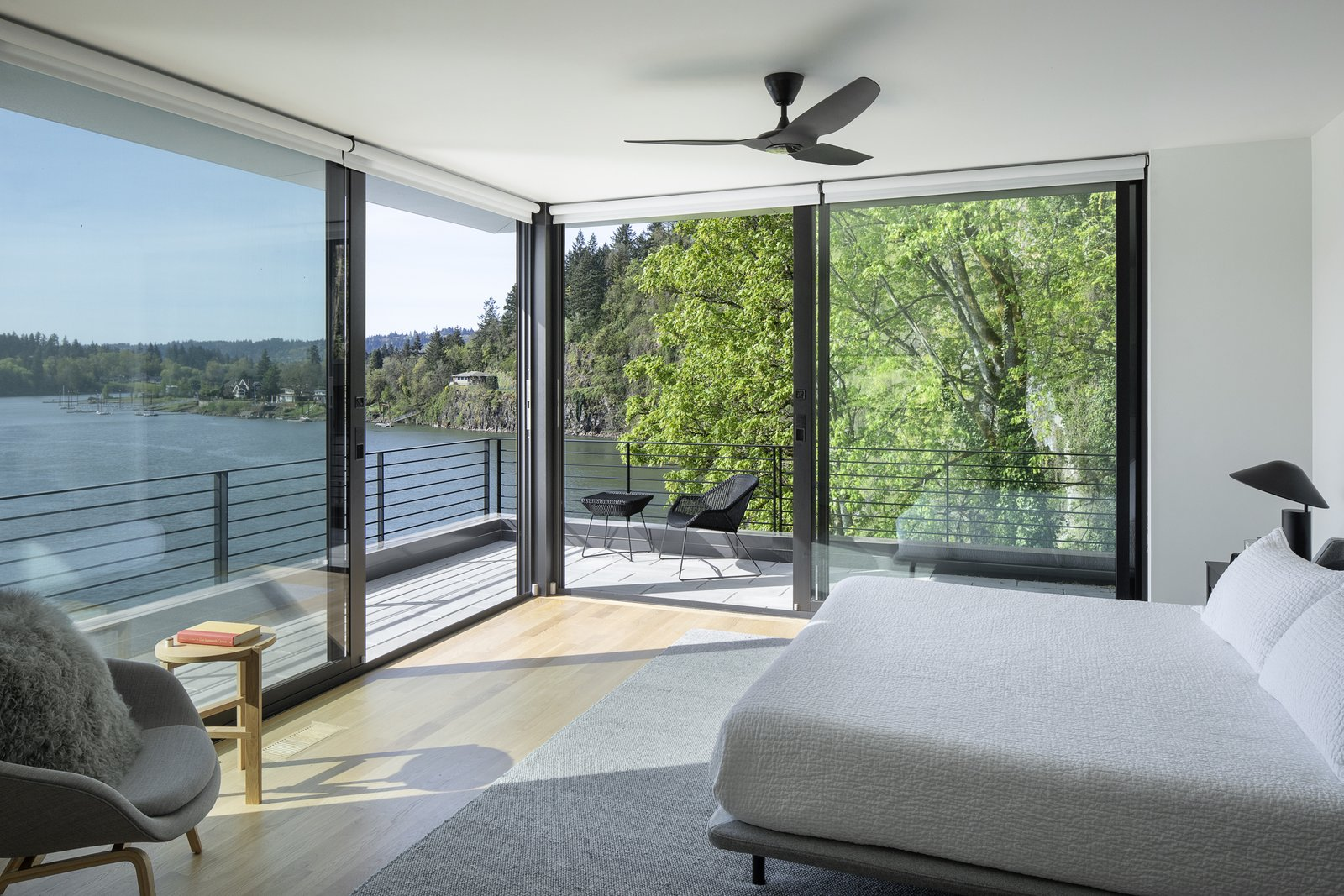 Master suite on the 3rd floor overlooking the river.  Riverwood