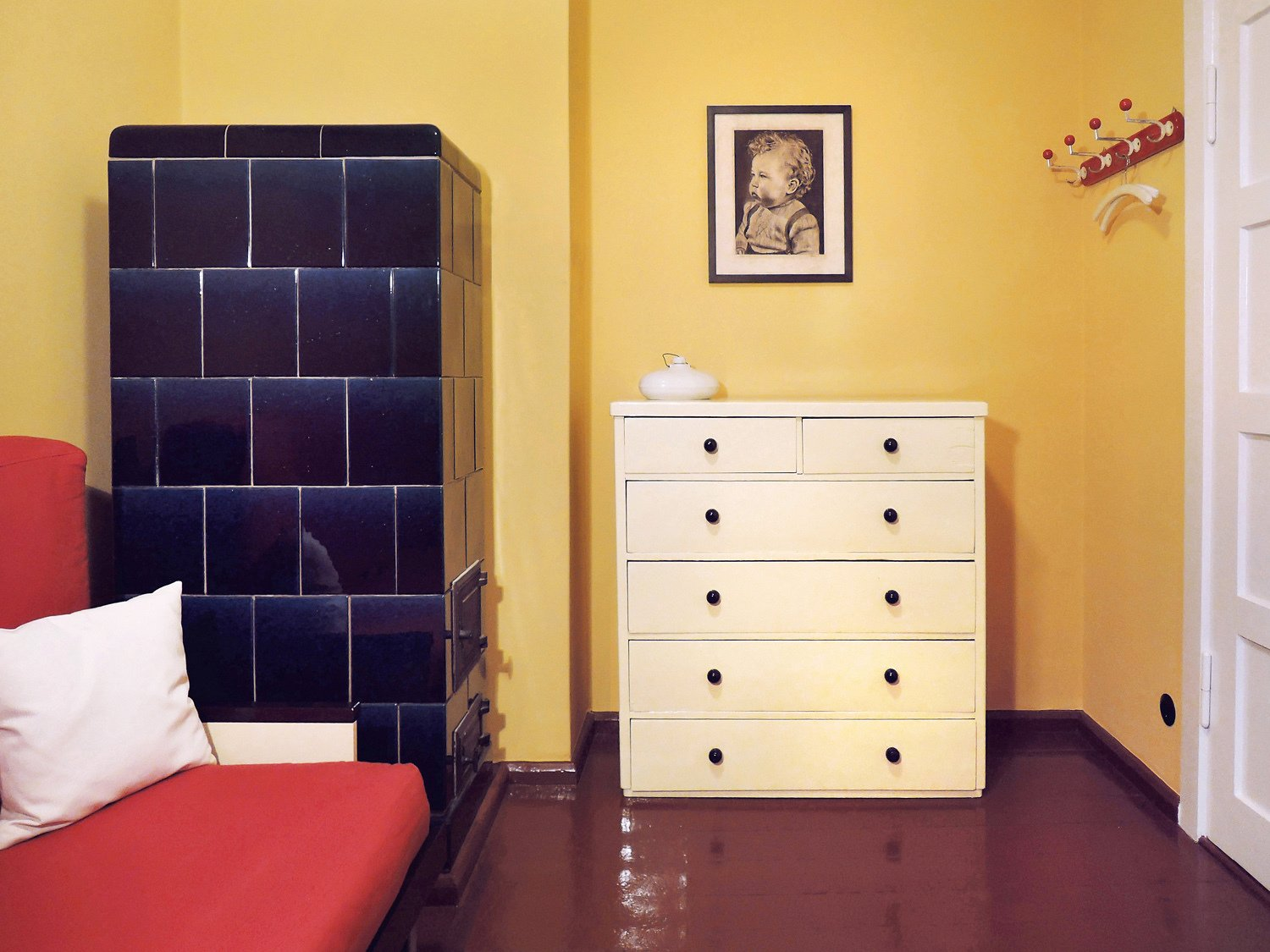 Kids, Bed, Shelves, Night Stands, Storage, Medium Hardwood, Bedroom, Pre-Teen, Teen, and Neutral 2nd bedroom   Kids Storage Neutral Bed Photos from Taut´s Home (Tautes Heim) - Rentable museum of design and architecture of the 1920s