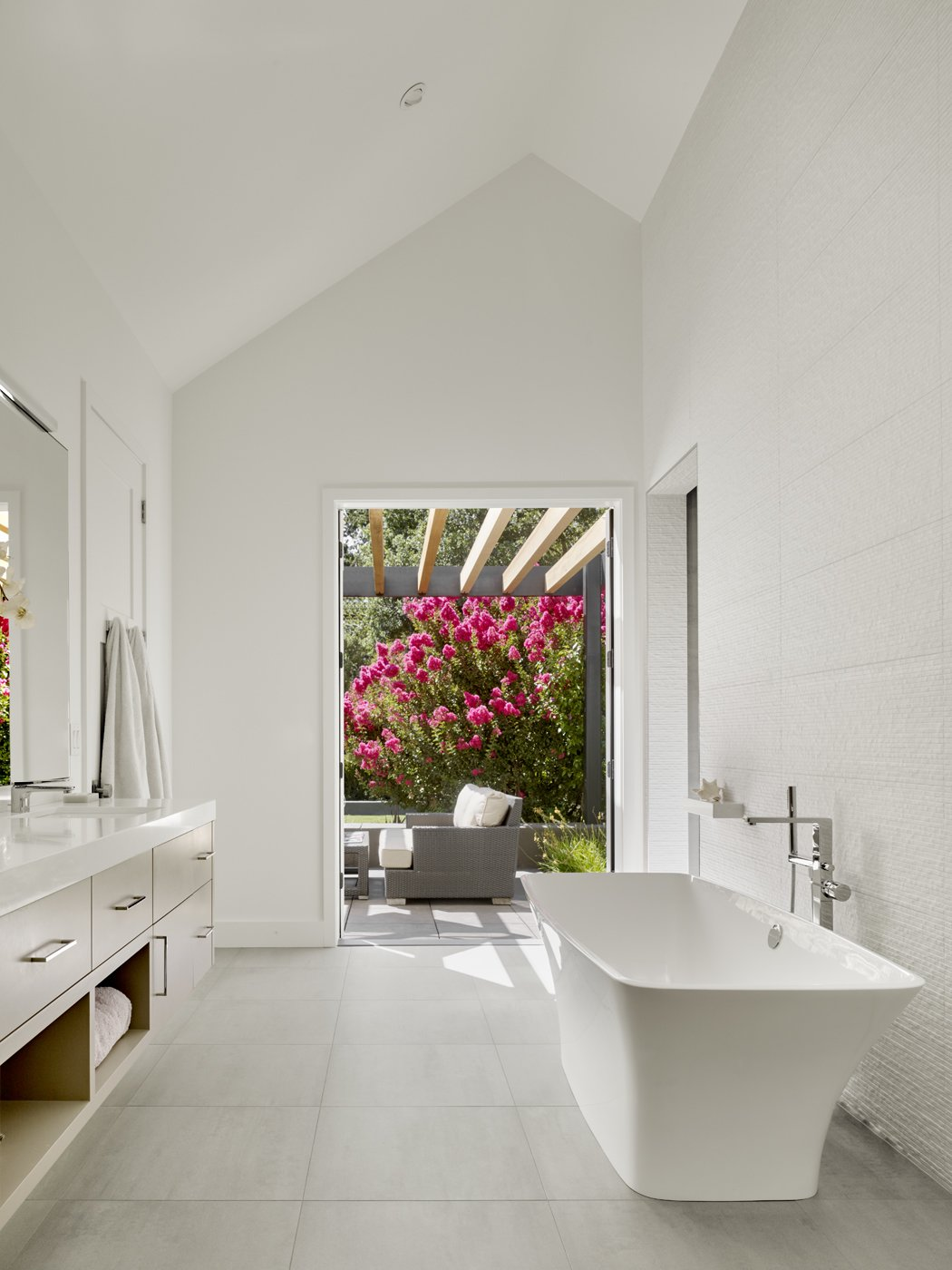 Bath Room and Freestanding Tub Master Bath.  Sunday chill.  Wine Country Cool