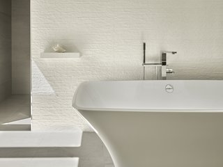 Bath wall.