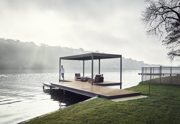 This project also includes a swimming dock.
