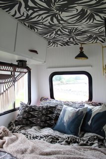 Kamarul had a mattress custom made by Brentwood Home to fit in the RV.