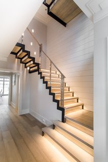 Stainless steel railings and modern stairs case