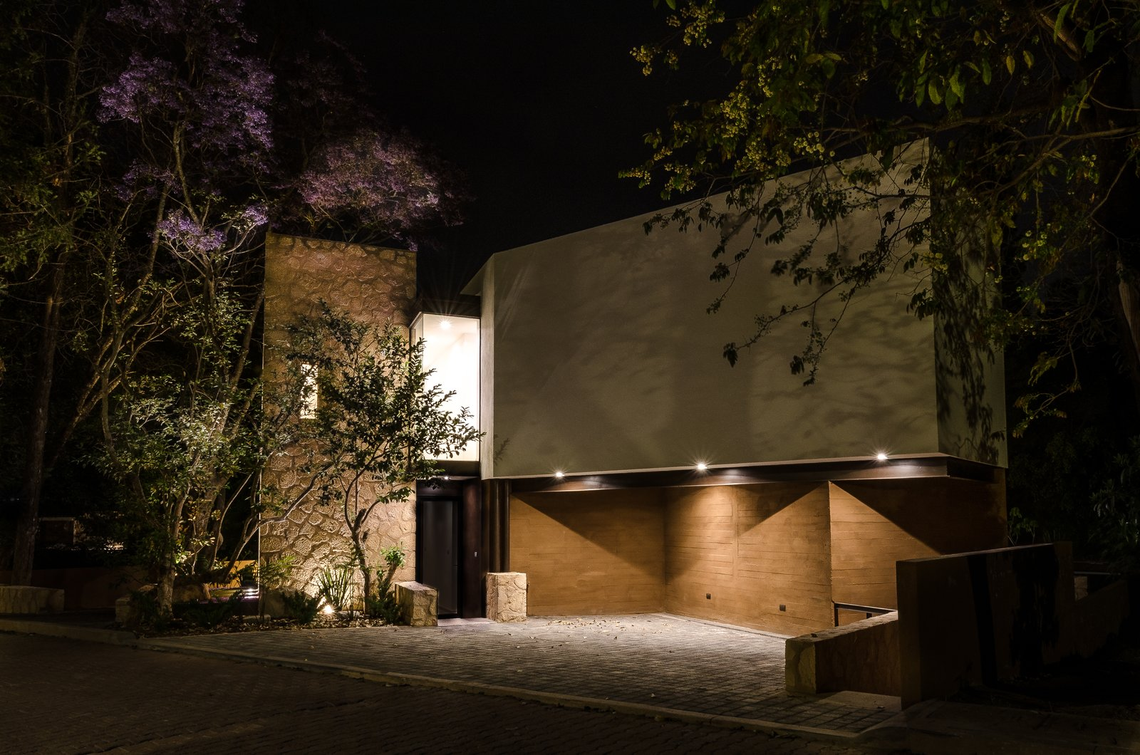Outdoor, Landscape Lighting, Front Yard, and Trees Façade  CQ12 by tescala