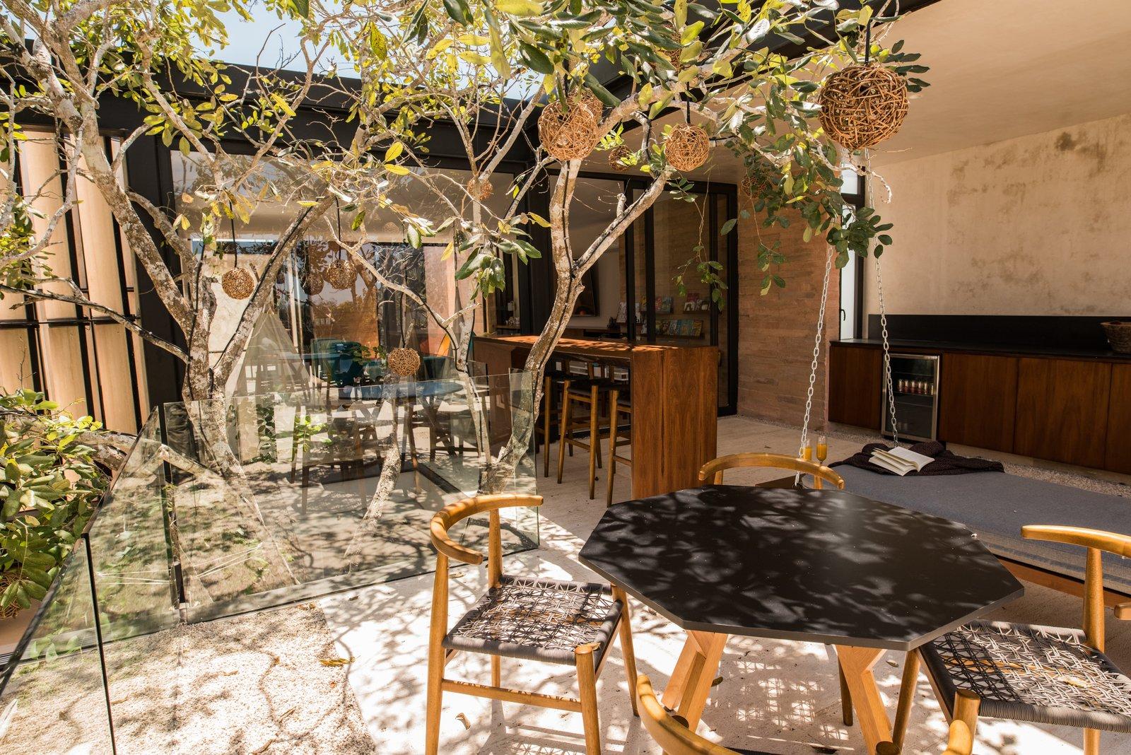 Outdoor, Rooftop, and Trees Jabin terrace  Casa Chaaltun by tescala