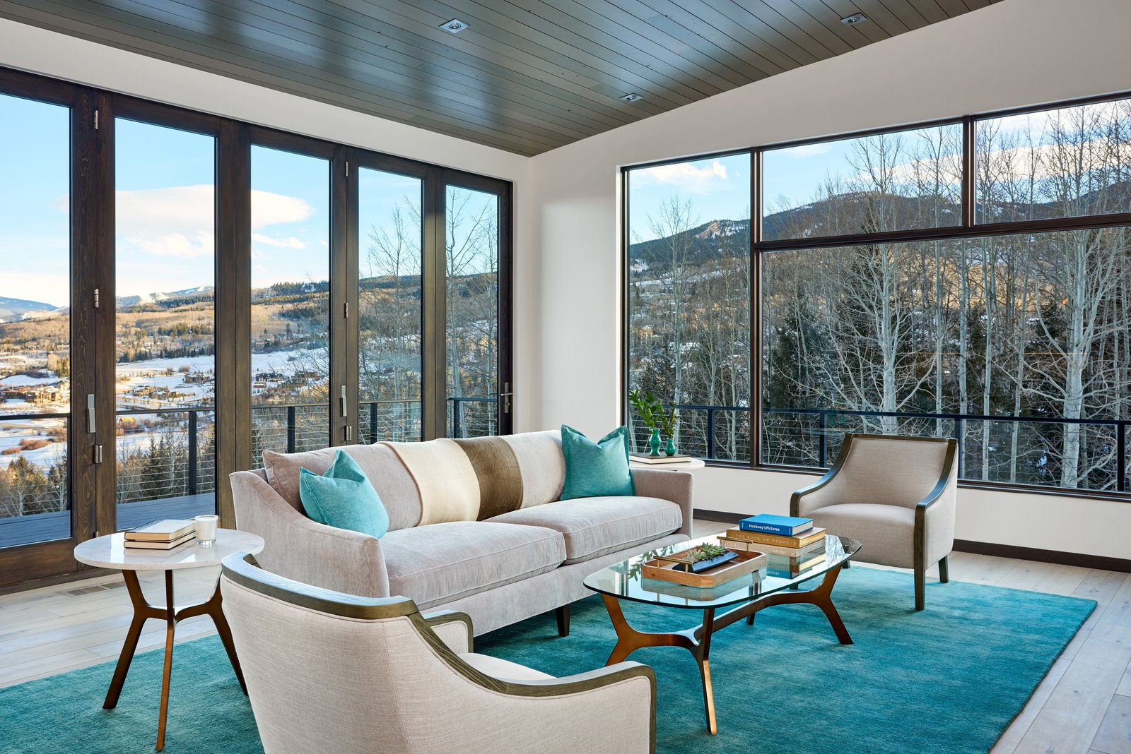 Doors, Metal, Interior, and Folding Door Type Folding wall opens up to the views and outdoor living space beyond.  Terrace Drive by KA DesignWorks