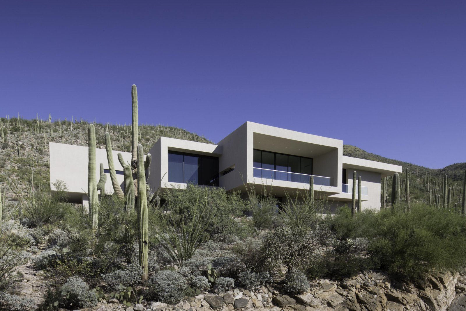 Sliding, Metal, Outdoor, Slope, Desert, Front Yard, and Boulders Project Name: Sabino Canyon Home  Best Outdoor Boulders Desert Photos from Sabino Canyon Home