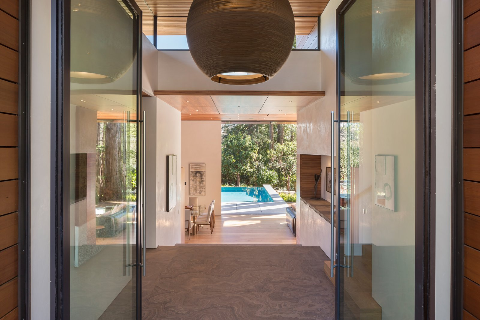 12 foot pivoting entry doors  Ross Modern