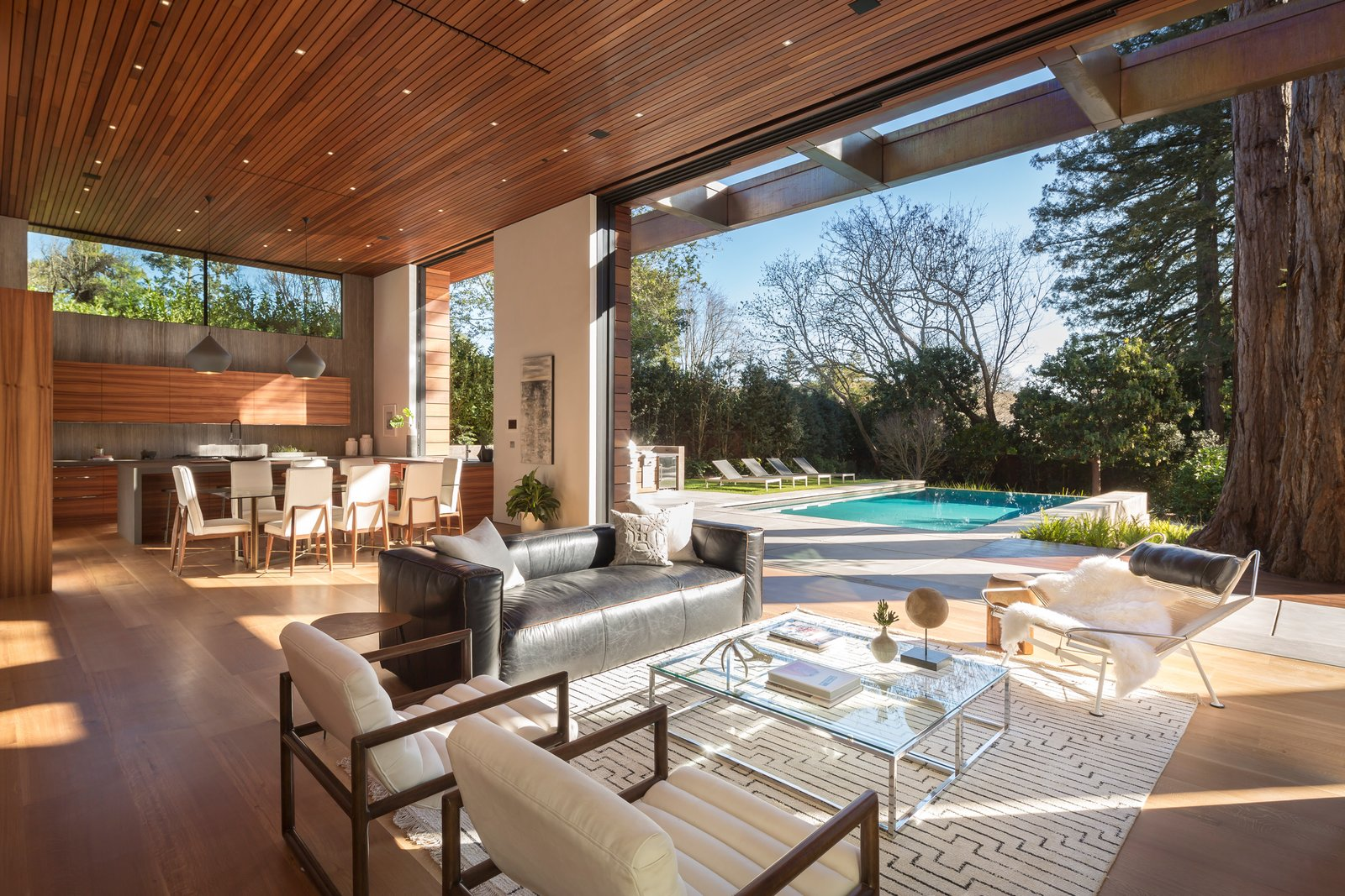 Living Room Interior spaces blend seamlessly with the outdoors  Ross Modern