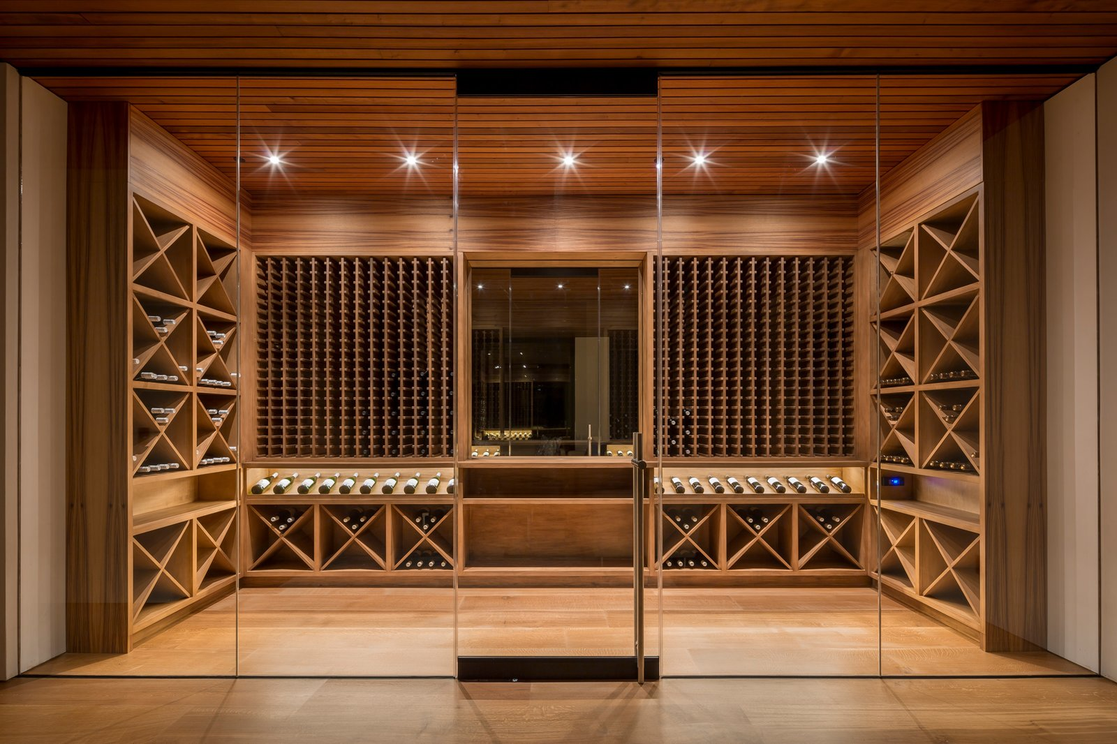 1500 Bottle wine feature off of family room  Ross Modern