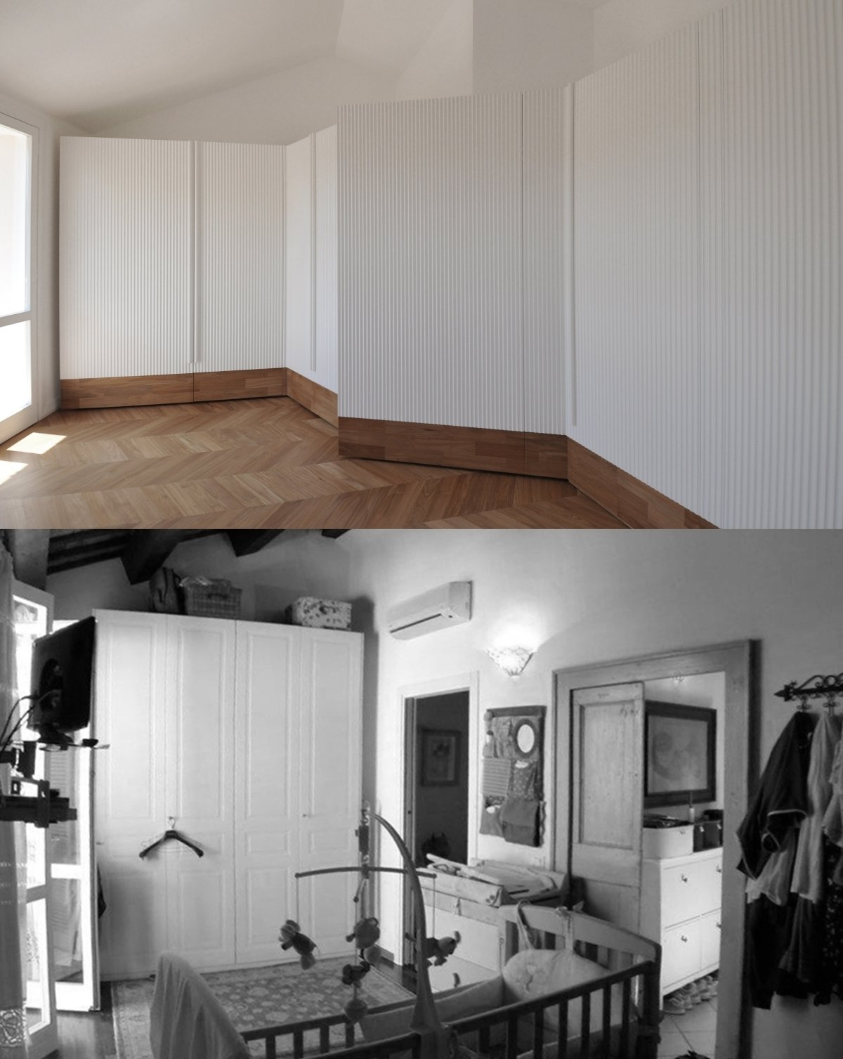 Bedroom before and after photos of the bedroom  cdr