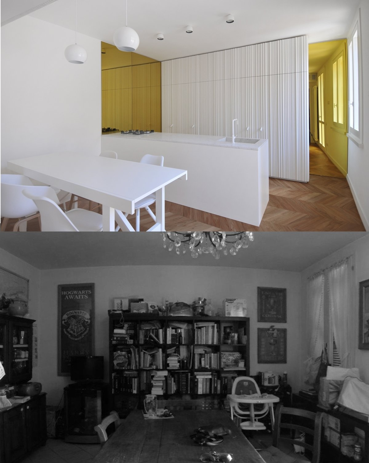 before and after photos of the kitchen  cdr