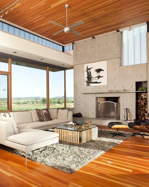 Clark & Chapin Architects, Buffaloe House, Living Room Fireplace
