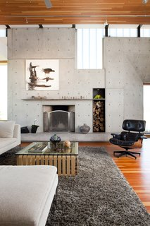 Clark & Chapin Architects, Buffaloe House, Living Room Fireplace
