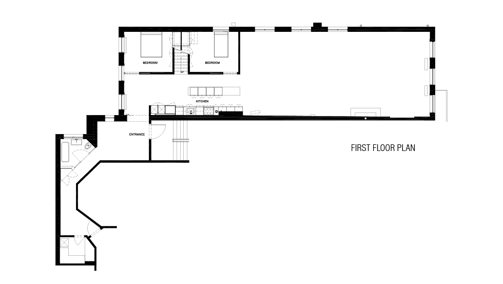 First Floor Plan  Grand St. Residence