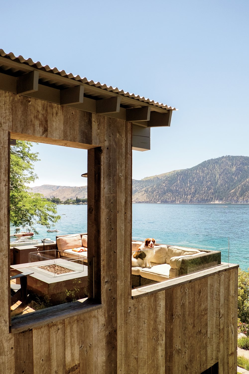 Outdoor, Small Patio, Porch, Deck, and Wood Patio, Porch, Deck Lake Chelan  Lake Chelan by Hoedemaker Pfeiffer