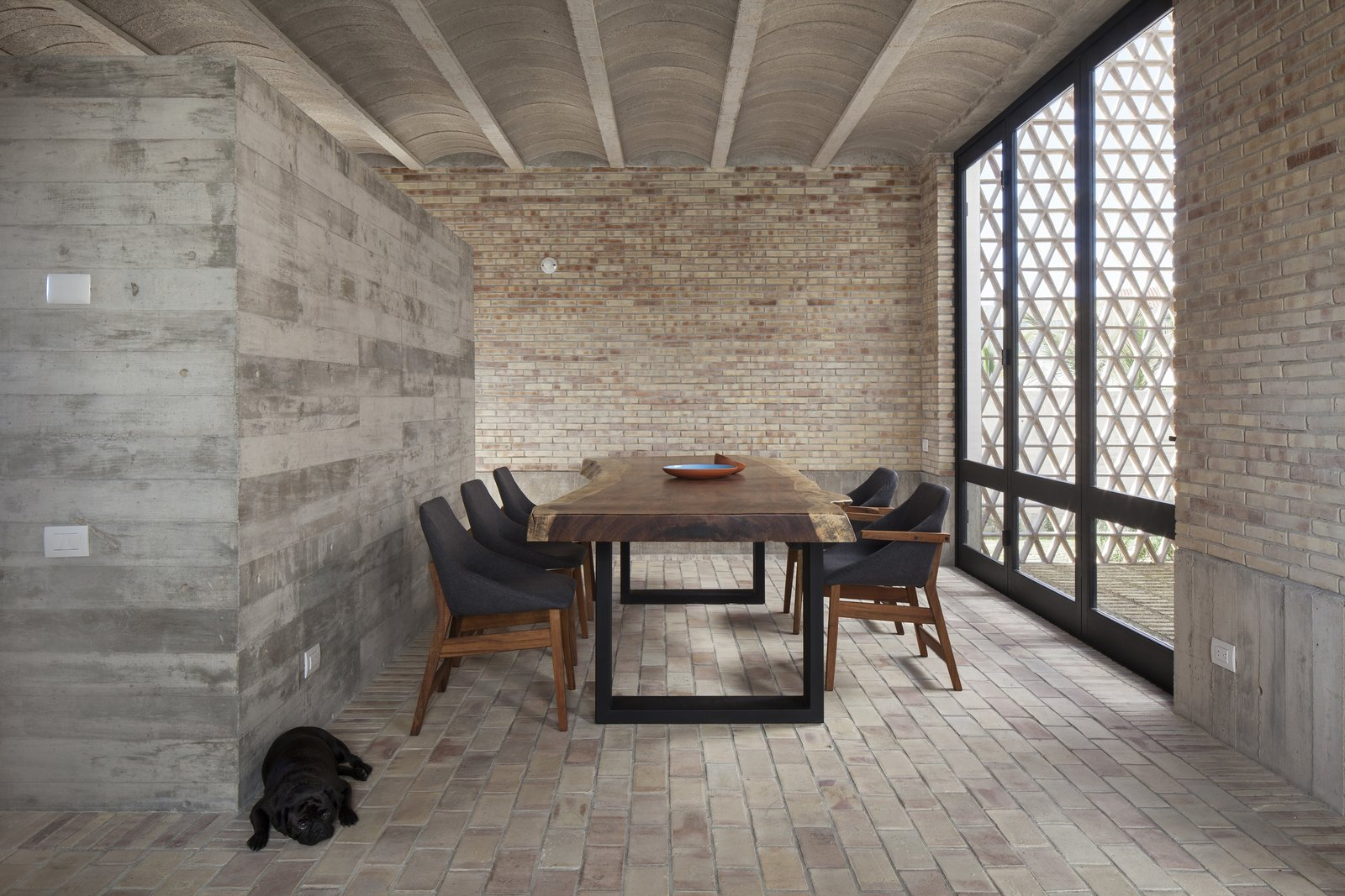Dining Room and Table Dining room.  Casa Iguana by OBRA BLANCA