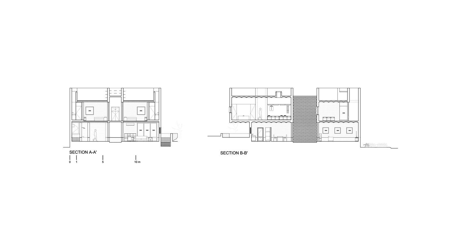 Section plans  Casa Iguana by OBRA BLANCA