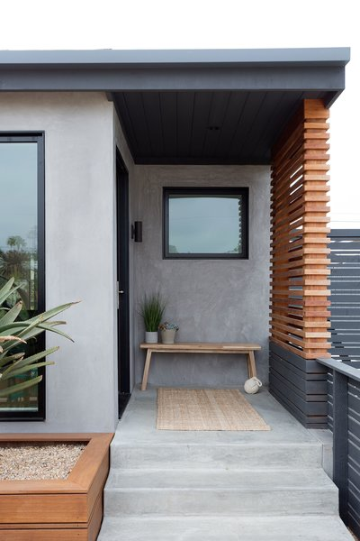 Front Entry Door & Privacy Screen
