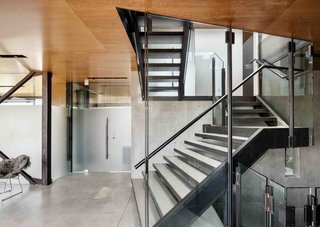 A central stair allows for passive ventilation through the home, while serving as the homes central axis.