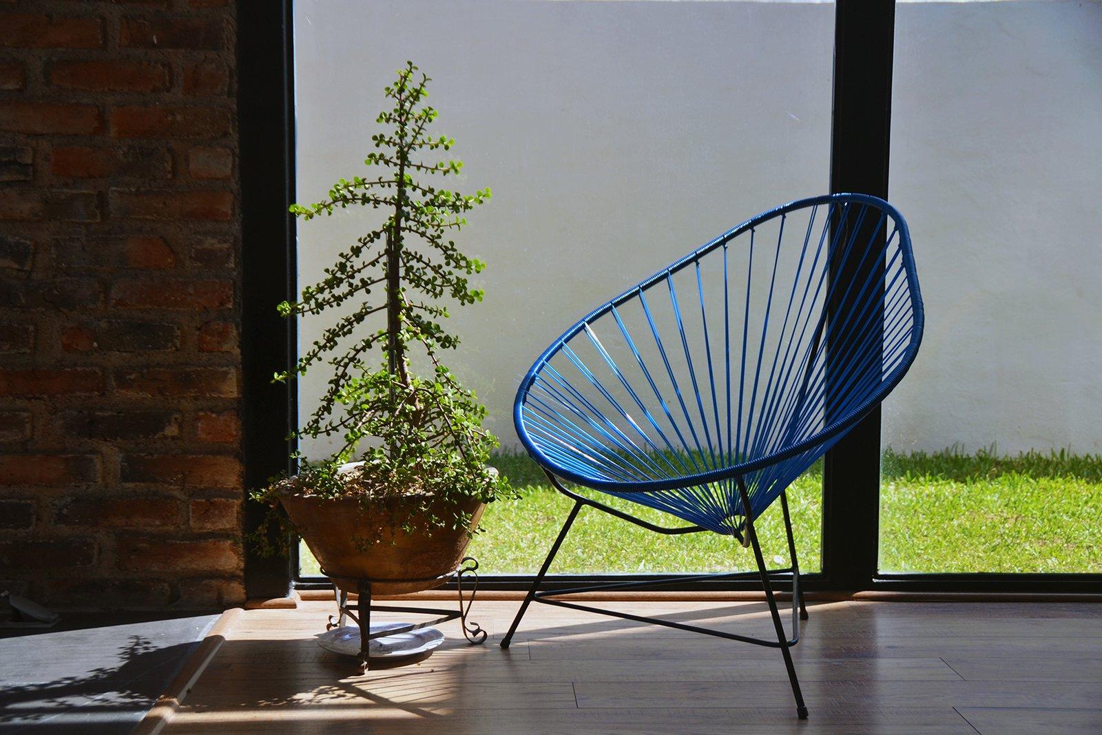 Living Room, Chair, and Medium Hardwood Floor Detail - Living Room  Casa MA by e arquitectos