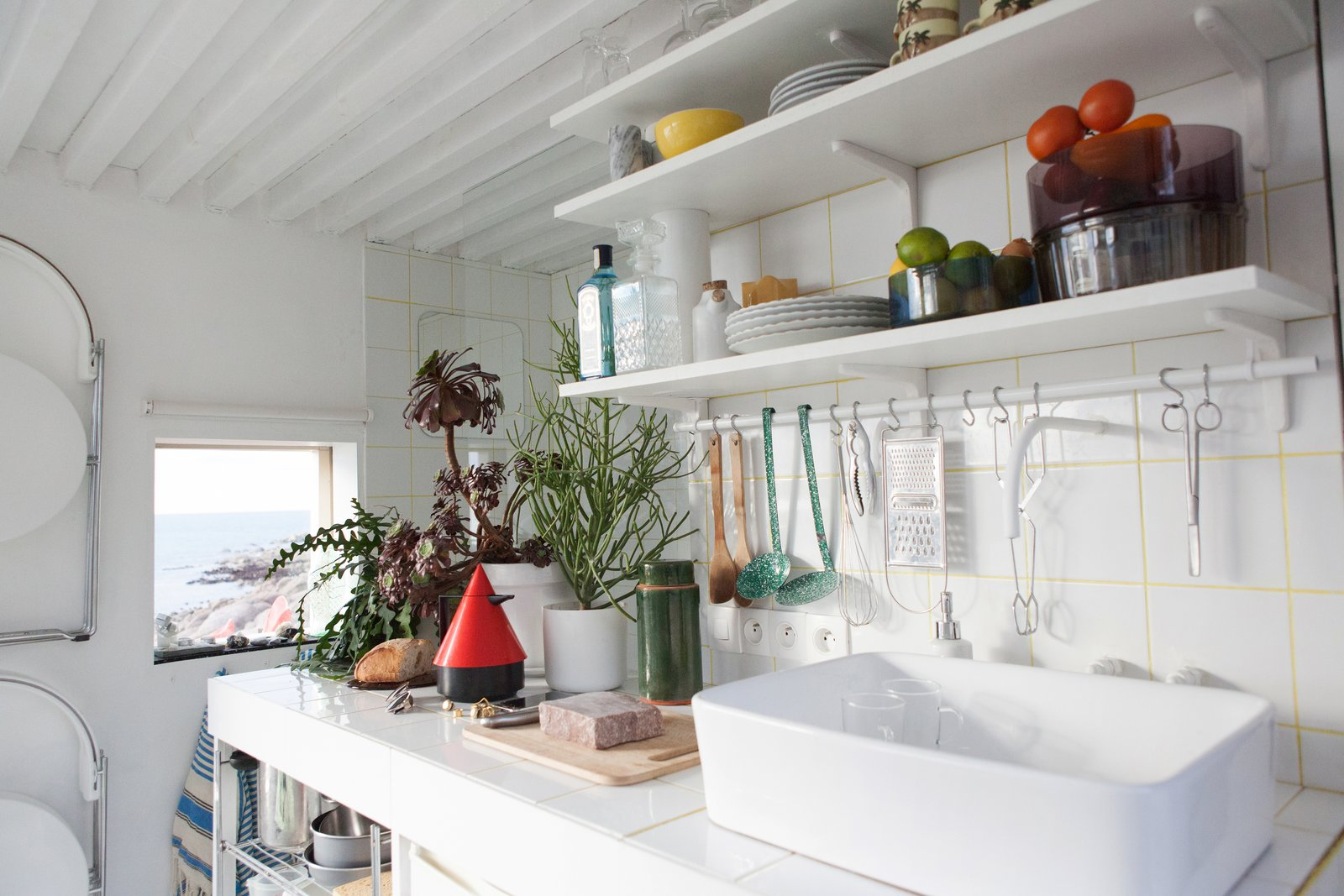 Kitchen and Vessel Sink @aubry.guillaume  Viking Seaside Summer Cabin